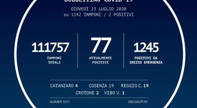 BOLLETTINO DELLA REGIONE CALABRIA DEL 23/07/2020